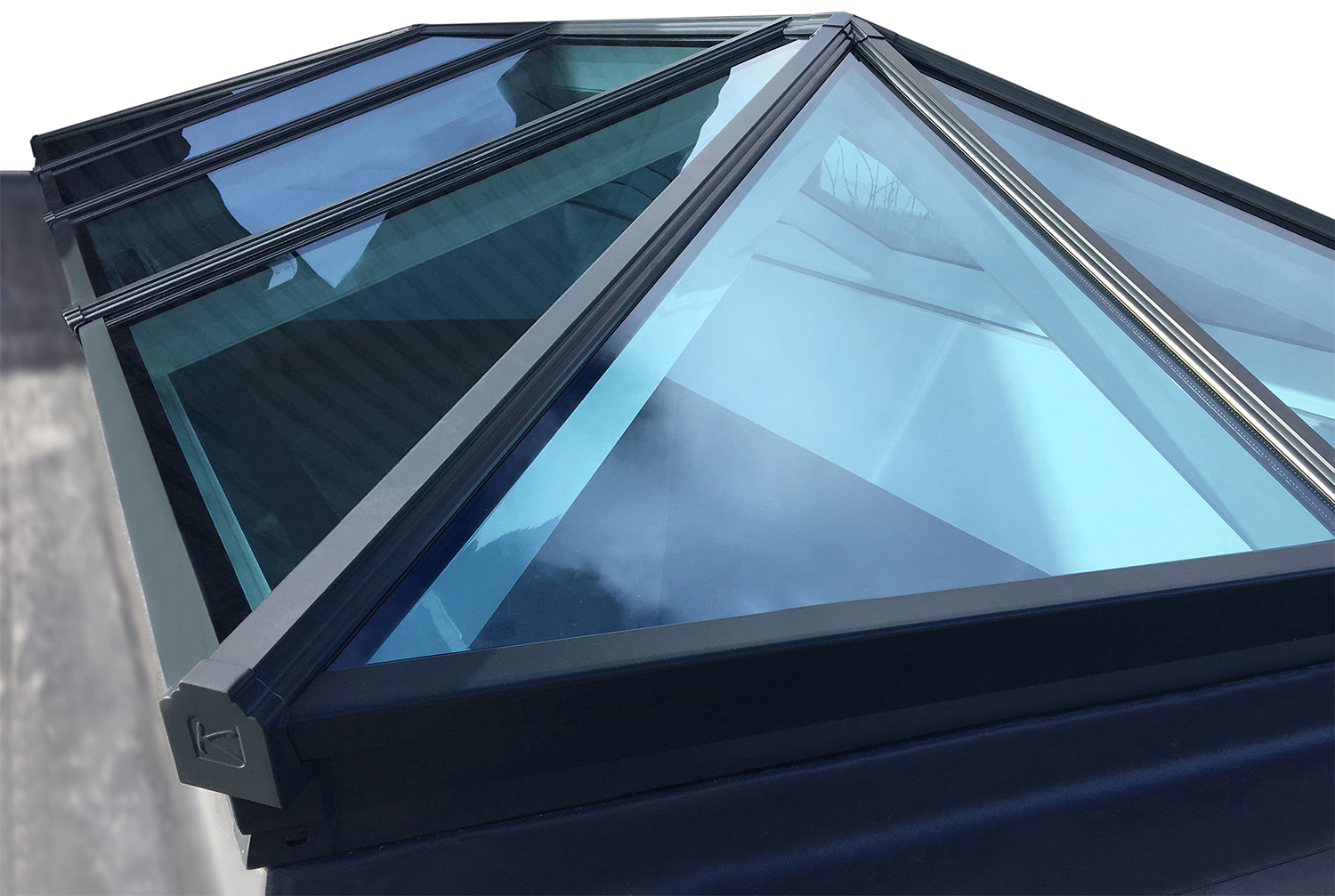 aluminium roof lantern korniche by county windows. Black Bedroom Furniture Sets. Home Design Ideas