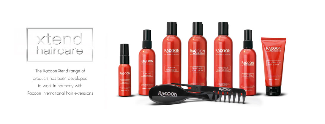 Racoon hair extensions aftercare range