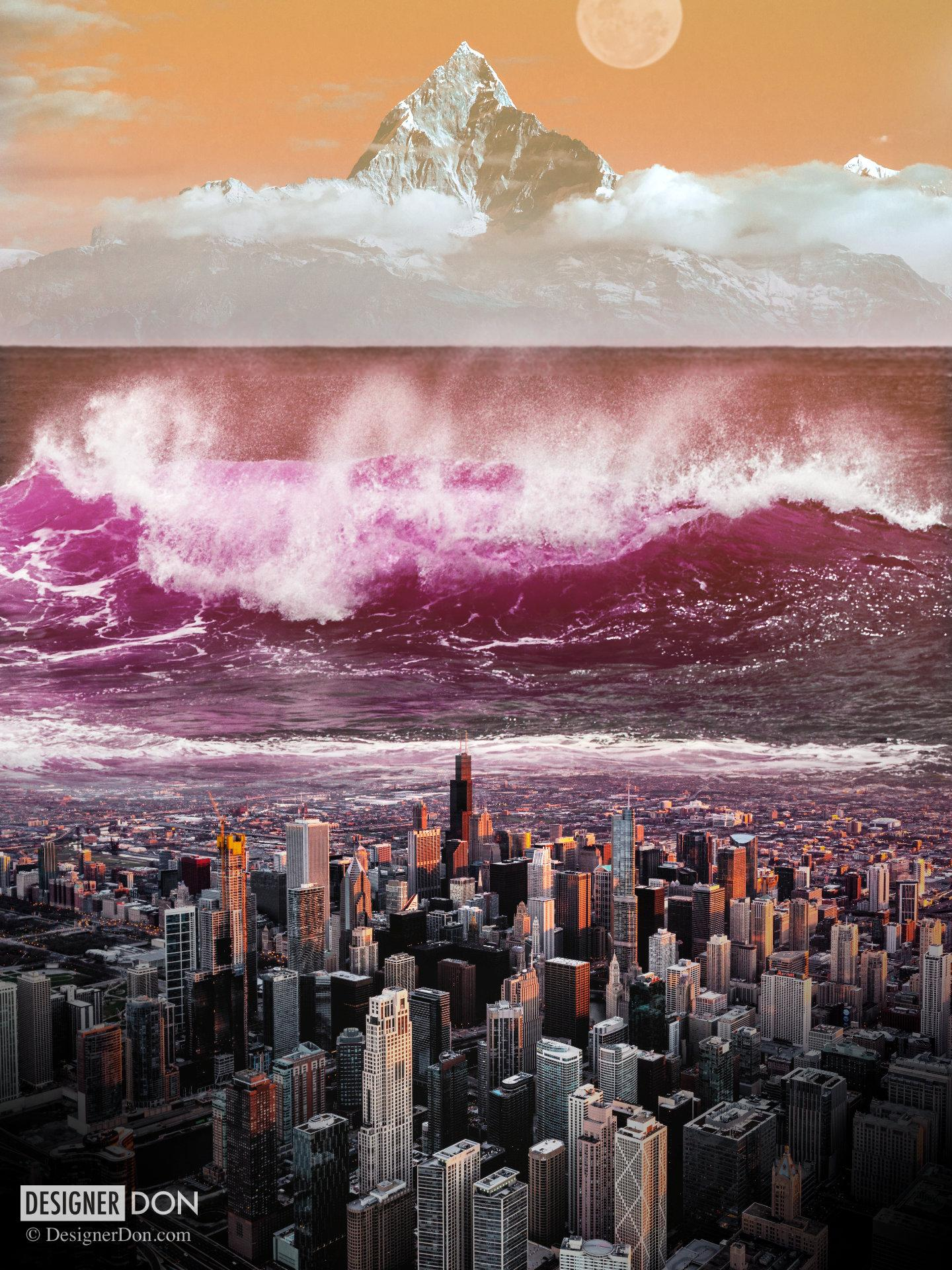 Photoshop Collage: Tidal Wave