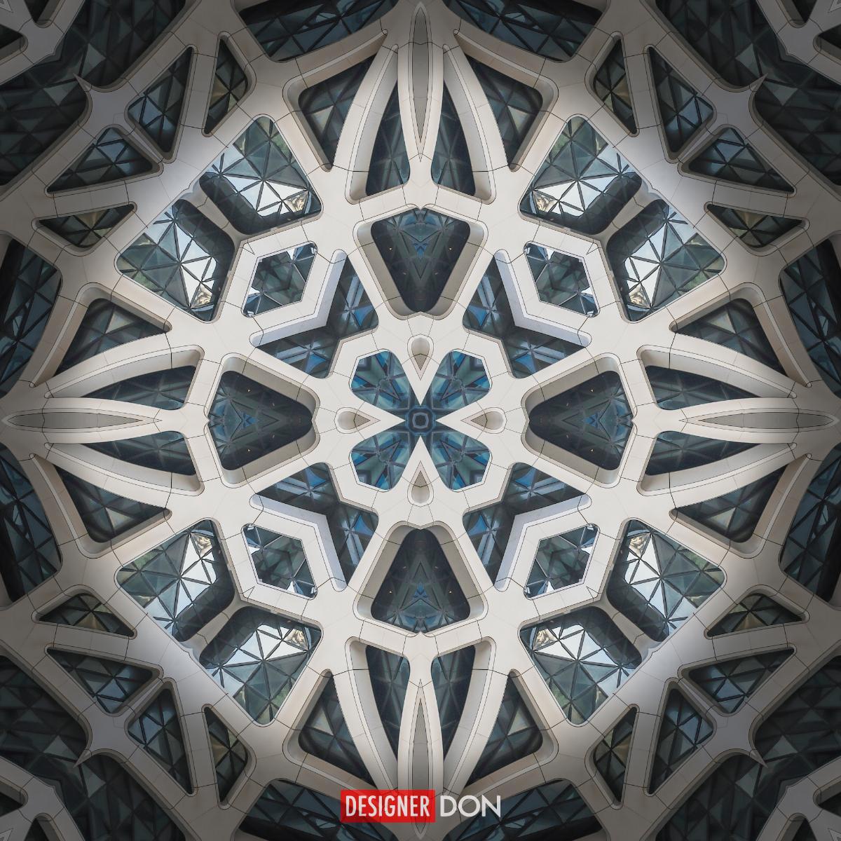 Cathedra: Stone, Glass, Geometric Art Series
